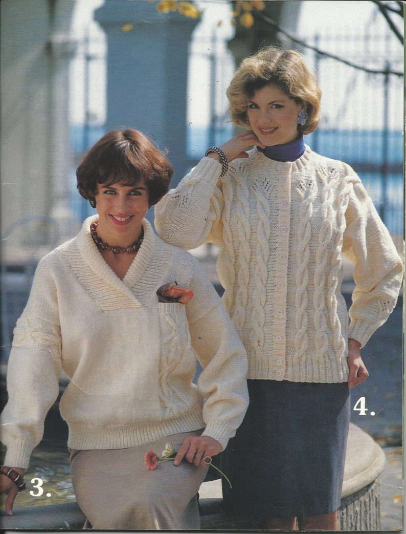 12c1386c2 ARAN STYLE Knitting Patterns by Mary Maxim FASHIONS Book 2