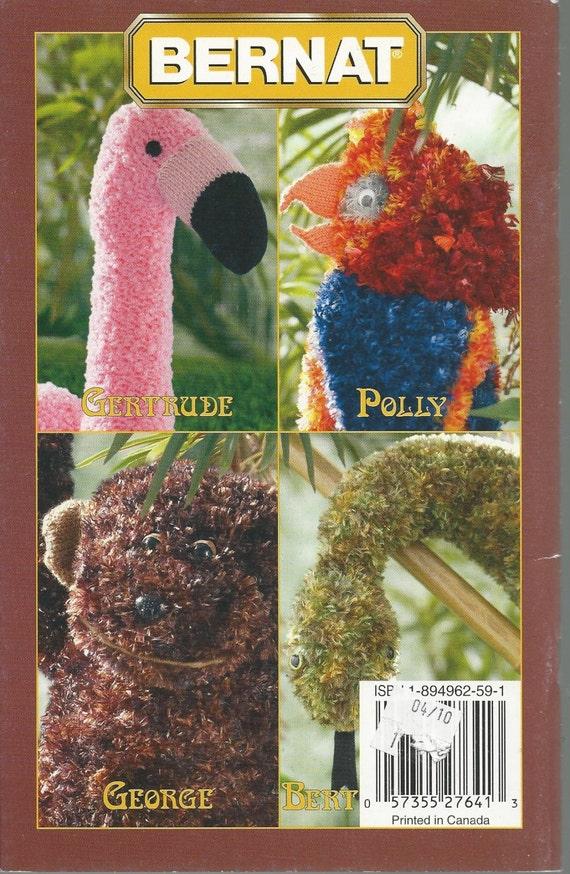 Knitting Pattern Toy Stuffed Animals The Jungle Book Etsy