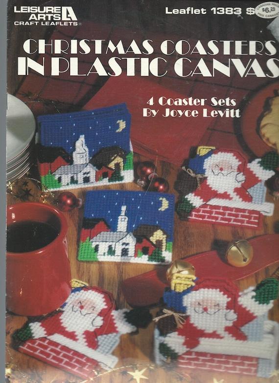 Plastic Canvas Christmas Coaster Patterns.Christmas Plastic Canvas Pattern Snowflake Coasters Pattern Craft Pattern Santa Coasters Holiday Coasters Christmas Coasters 4 Styles