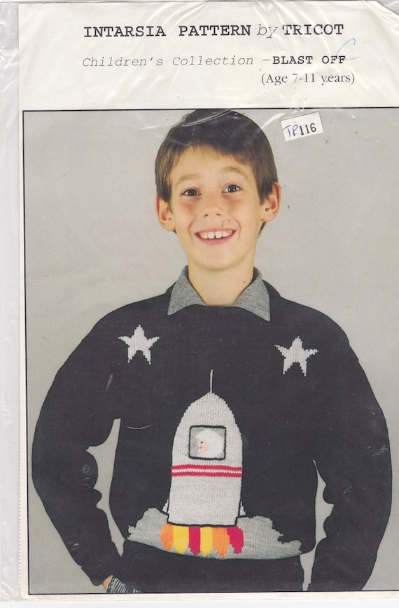 Machine Knitting Pattern Graph Chart For Boys Blast Off Etsy