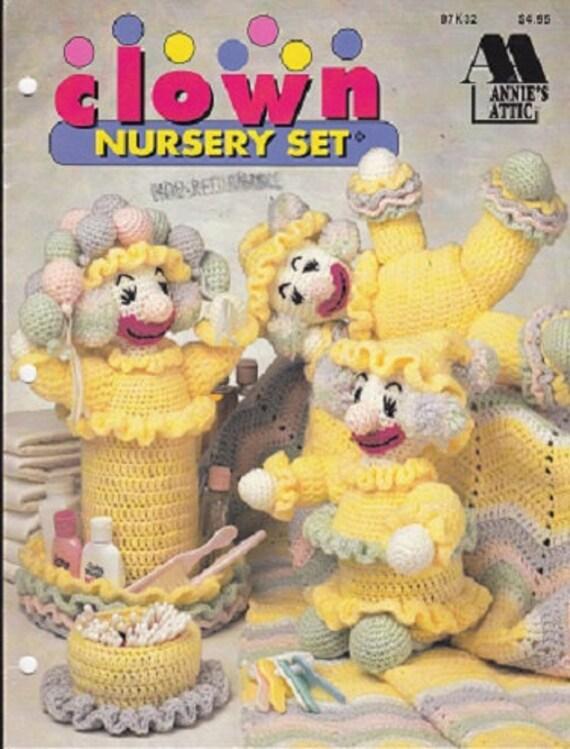 Crochet Clown Nursery Set Baby Crochet Pattern Booklet Etsy