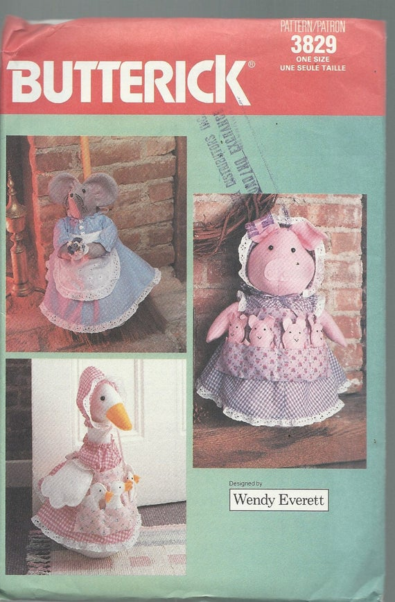 Vintage Craft Sewing Pattern PIG or GOOSE Doorstop MOUSE | Etsy