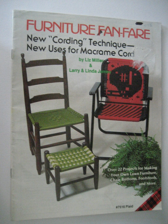 Macrame Chair Woven Chair Make a Lawn Chair Pattern Nylotex Qualicraft Pattern Weave a Chair Weaving A Lawn Chair Pattern