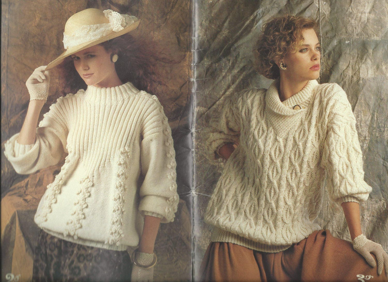 Patons Knitting Pattern Book - ARAN IRISH FISHERMAN Knits - Forever ...
