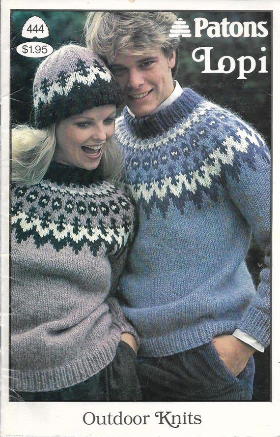 40s Knitting Patterns FAIR ISLE SWEATERS Patons Lopi Etsy Fascinating Fair Isle Sweater Pattern