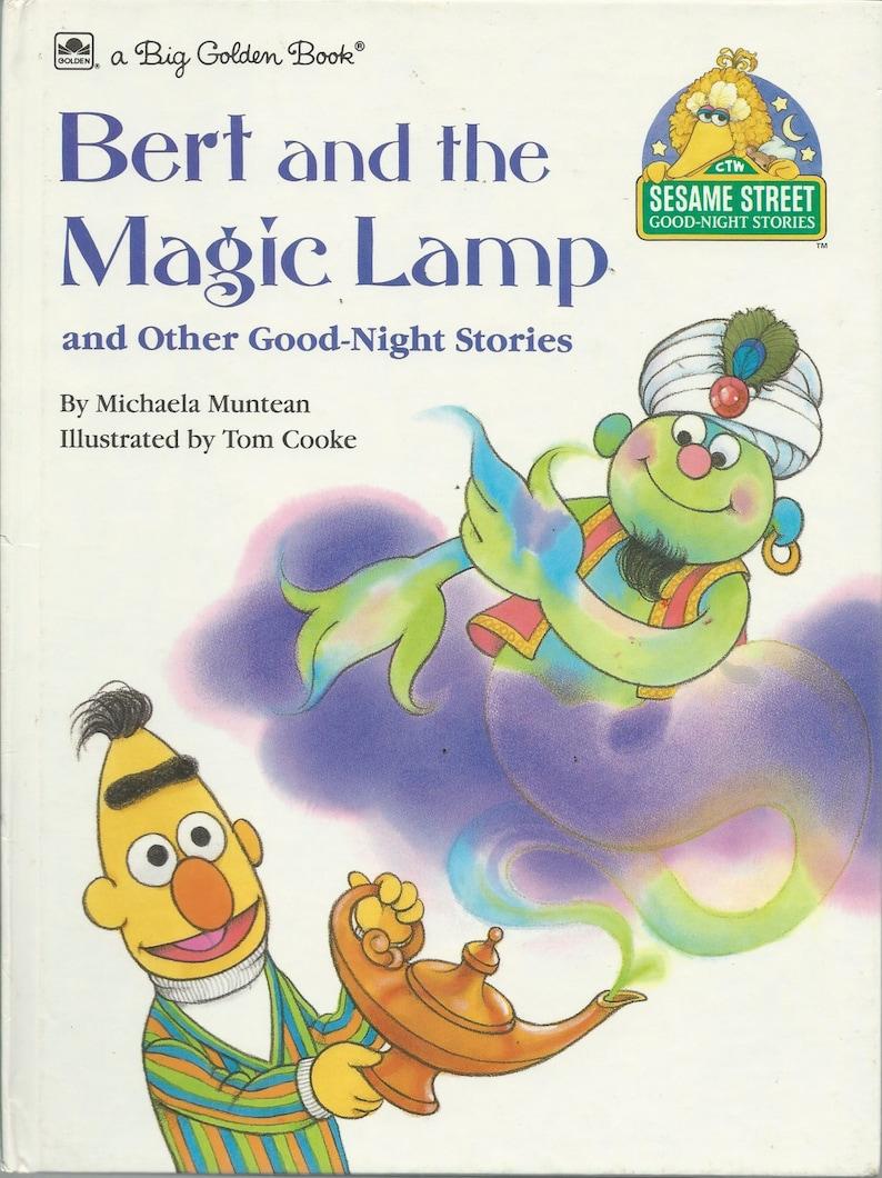 Sesame street book good night stories hardcover book bert etsy