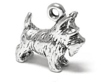 ce48cf81b Scottish Terrier Charm Sterling Silver 13mm, silver Schnauzer Charms,  Sterling Silver Charms, Pet Charms, Dog charms, Terrier charms - SP271