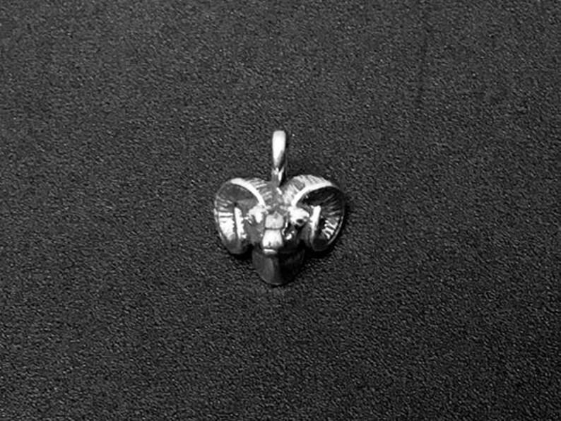 Ram charms Ram Head Mascot charms Capricorn Charms Sterling Silver Charms Ram Head Charm Sterling Silver 15mm SP159 silver Ram Charms