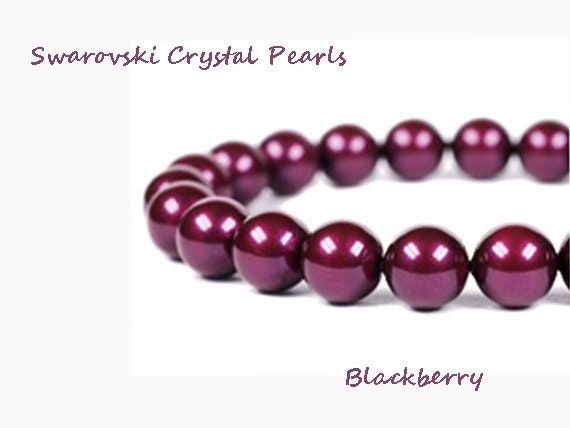 0679ef139b4e Cristal Swarovski Perle Black Berry brins de 5mm 10mm 12mm
