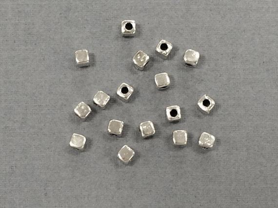 6 Pieces VINTAGE ALUMINUM 18mm Silver Plain Simple Bead Cap Caps