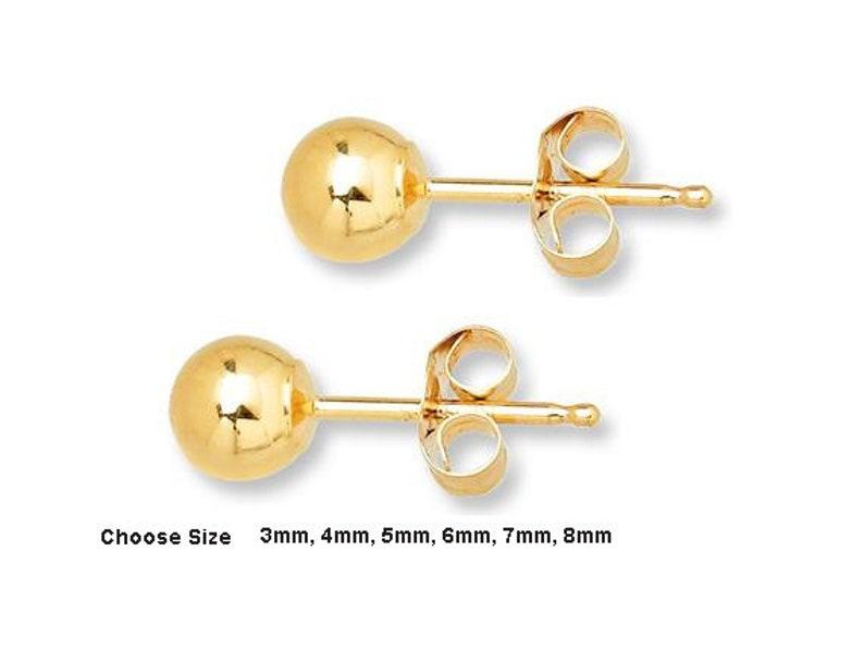 92c665d8b 14K/20 Gold Filled Ball Stud Post Earrings High Polish   Etsy