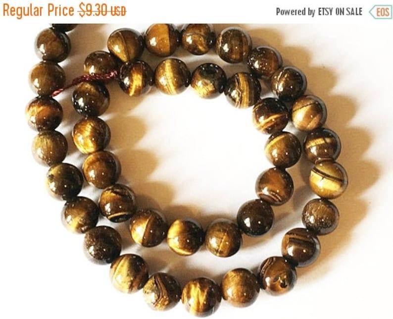 10mm Tiger Eye Round Gemstone Beads Full Strand 38Beads STIG005 Brown Gemstone Tibetan Boho