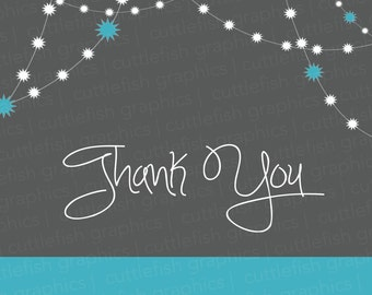 Thank You Cards - Pink or Blue - Instant Download