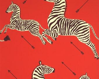 Wallpaper 'Zebra Masai' from Scalamandre