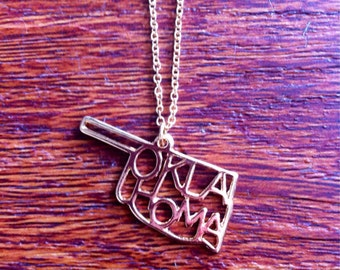 Oklahoma Silver State Necklace