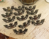 Vintage Ornate Lot of 13 Metal Drawer Handle Pulls Dresser Buffet Sideboard Cabinet