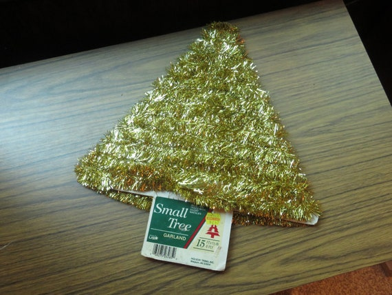 15 Ft Christmas Tree.Vintage Small Tree Christmas Tree Gold Tinsel Garland 15 Ft