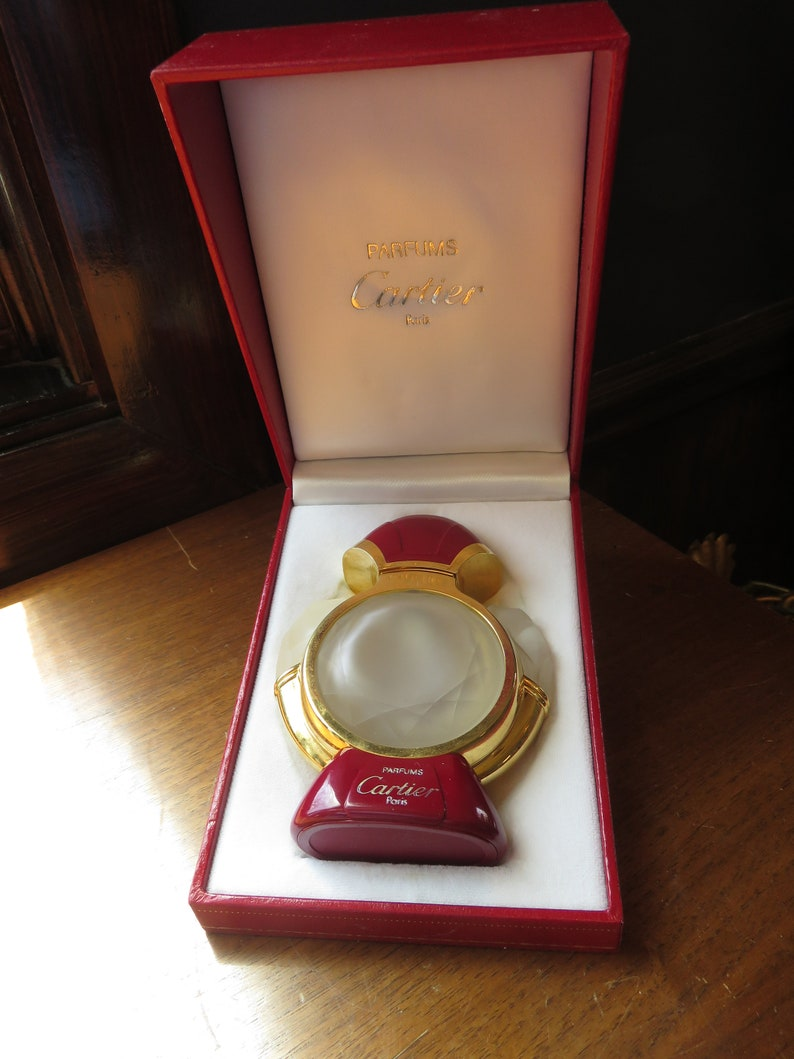 Vintage Panthere De Cartier Perfume Parfums Paris Empty Bottle Etsy