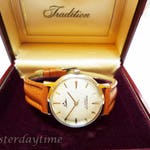 Tradition Men's Watch 1960's Silver Dial 30 Jewel Automatic Movement Stainless Steel Case