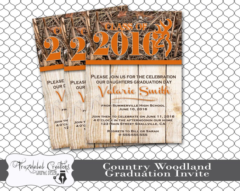 Graduation Announcement Country Woodland