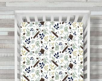 Crib Sheet, Crib Bedding, Pine Cone Crib Sheet, Woodland Crib Sheet, Woodland Baby Bedding, Crib Sheet, Fitted Crib Sheet, Crib Bedding,Baby