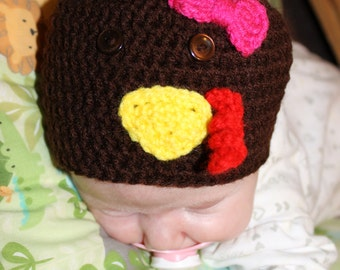 Crochet Baby Turkey Hat