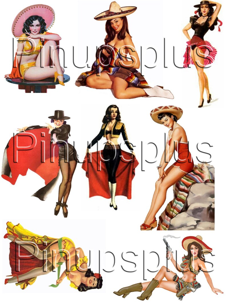 025cfe7d4a5 Rockabilly Mexican Pin up Pinup Girl Latina Waterslide Decal