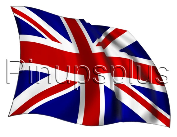 Waving British United Kingdom Flag Royal Union Jack Waterslide Decal For  Guitars, Lockers, Toolboxes, Furniture Jewelry Boxes S933