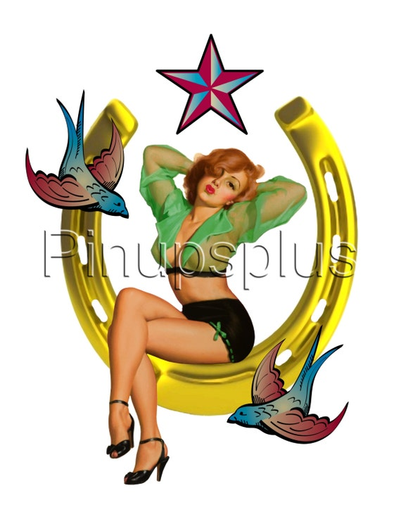 Retro Pinup Mermaid Waterslide Decal Stickers Great for Guitars /& more S853
