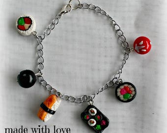 SUSHI bracelet with polymer clay