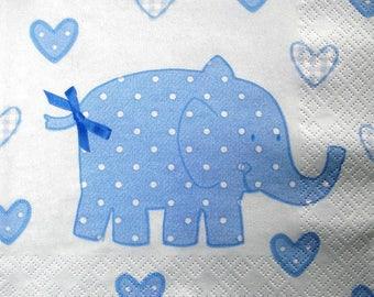 """""""Blue Elephant"""" towel"""