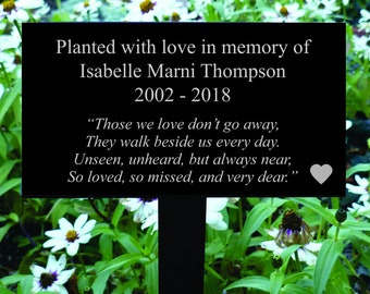 Those We Love Personalized Memorial Plaque, Memorial Marker, Memorial Sign, Memorial Gravestone, Memorial Garden Sign, Garden Dedication