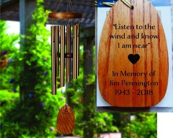 Deep Tone Memorial Sympathy Wind Chimes Wind Bless Up Spirits Wind Chimes for Outside 37.5 Large Unique Tuning for Uplifting Melodic Music 6 Tubes Bring a Dreamy Sound into Your Life.