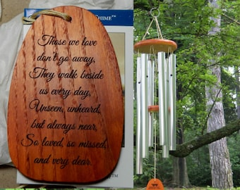 """Personalized Wind Chimes """"THOSE WE LOVE"""" Windchimes, Custom Chimes, Memorial Garden, Engraved Chimes, Garden Bell, Amazing Grace Wind Chimes"""