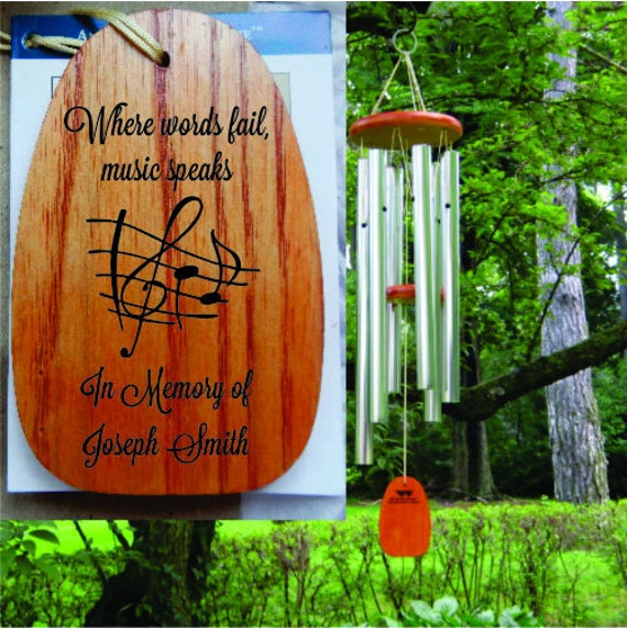 Personalized Wind Chimes Conductor Music Teacher Musician Gift Musician Sympathy Gift For Music Lover Where Words Fail Music Speaks
