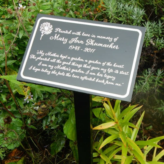 Personalized Daisy Memorial Garden Stake Planted in Memory Plant Marker Any Text