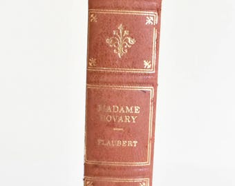 Madame Bovary by Gustave Flaubert Illustrated Edition Book 1948 Fine Edition Press Leather Spine Hardcover