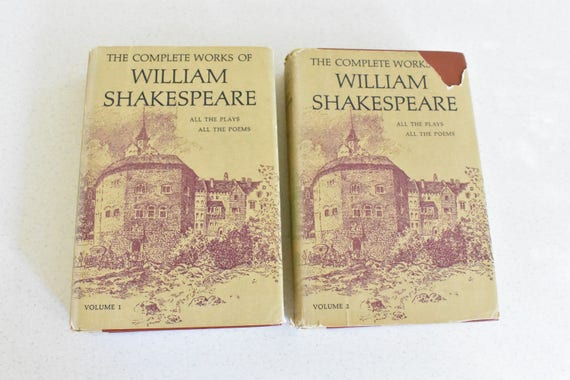 Matching Hardcover Set Of The Complete Works Of William Etsy