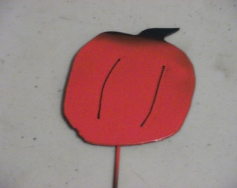 """1 Blueberry Vegetable Garden Marker Made from Scrap Metal 4/"""" Tall  12/"""" Stake"""