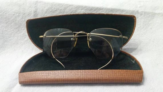 Antique Eye Glasses Eyewear Frames Yellow Gold Fil