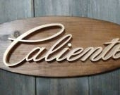 1965 Mercury Comet Caliente Emblem Oval Wall Plaque-Unique scroll saw automotive art created from wood for your garage, shop or man cave.