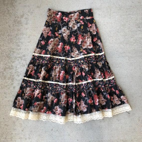Vintage 70s Gunne Sax Prairie Skirt Size XS - image 4