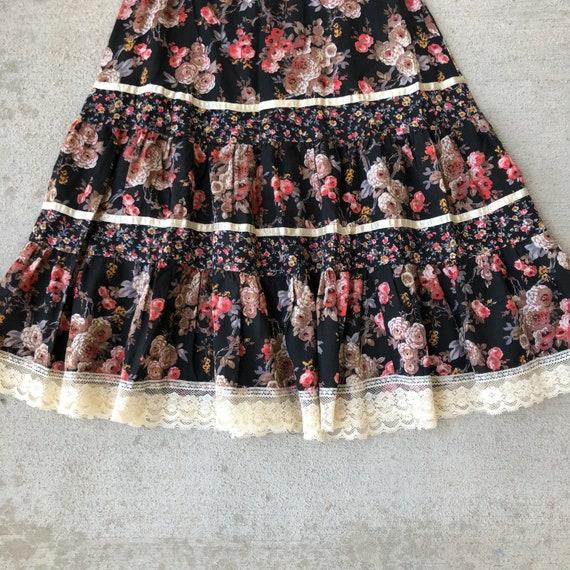 Vintage 70s Gunne Sax Prairie Skirt Size XS - image 5