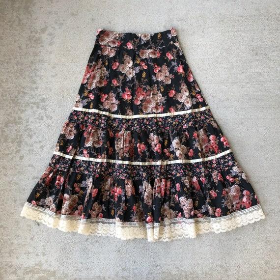 Vintage 70s Gunne Sax Prairie Skirt Size XS - image 1