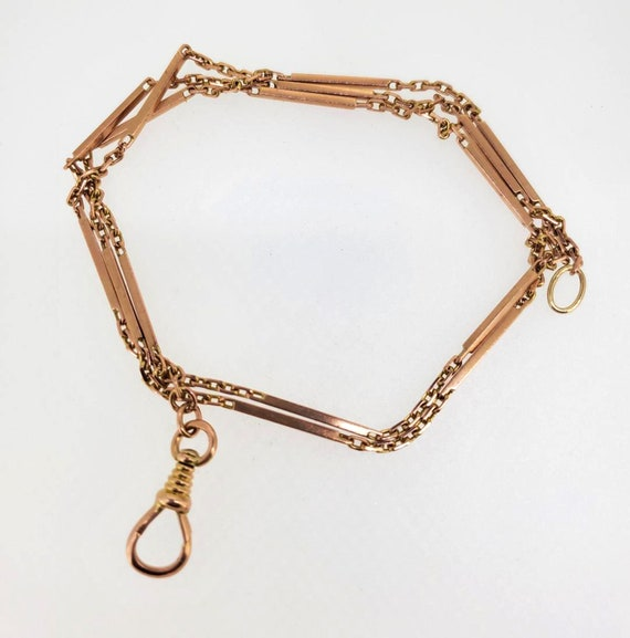 Victorian 14kt Rose Gold Watch Chain - 14.7 grams