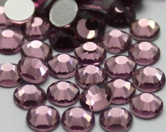 Crystal Glass Rhinestones Flatback High Quality no hotfix Size SS6 SS10 SS12 SS16 SS20 SS30 Wholesale Pack Lot Light Amethyst