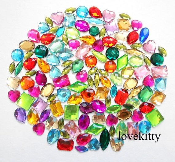 6mm 10mm 15mm STARS Resin Rhinestone Gems Flat Back Crystal Beads Pick color