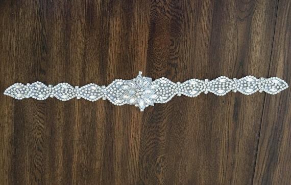 Diy bridal wedding sash bridal belt rhinestone applique etsy