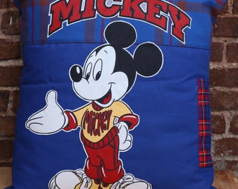 Mickey decoration cushion in recycled fabric