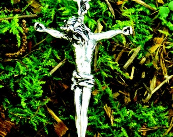 Passion Christ Cross Pendant Sterling Silver